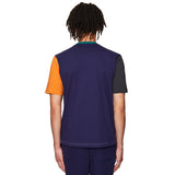 Colourblock T-shirt Grey / Orange