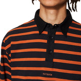 Rugby Polo Spicy Orange / Navy