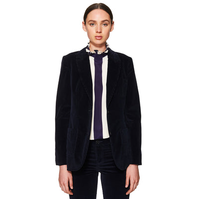 Cord Suiting Jacket Navy