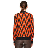 Chevron Cardigan Spicy Orange
