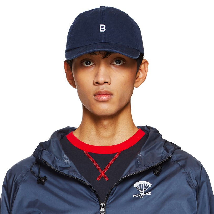 B EMBROIDERED NAVY CAP