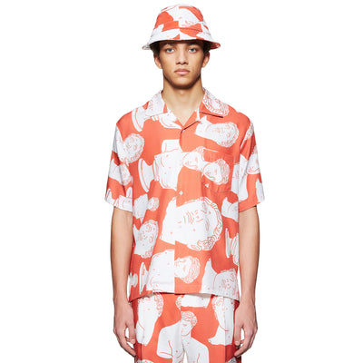 RED HAWAIIAN MARBLE SHIRT