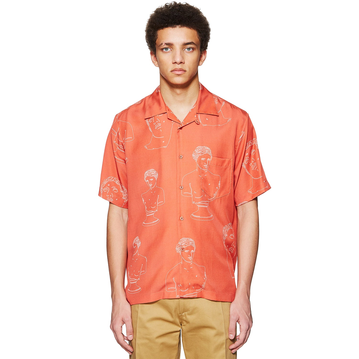 MARBLES TENCEL SUMMER SHIRT RED