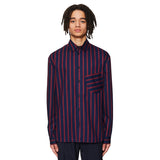 Slanted Pocket Shirt Navy / Burgundy