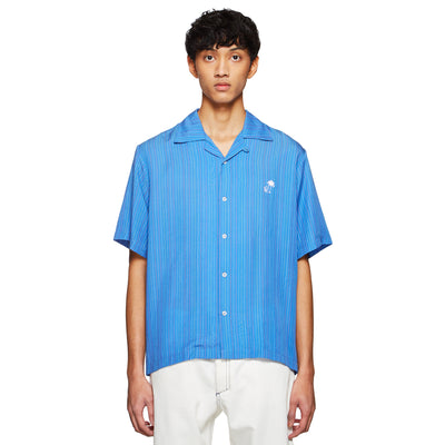 BOARDIES X BAND OF OUTSIDERS PSYCHEDELIC SHIRT BLUE