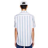 OVERSIZED RETRO STRIPE SHIRT WHITE/NAVY