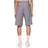 SINGLE PLEAT SHORTS GREY