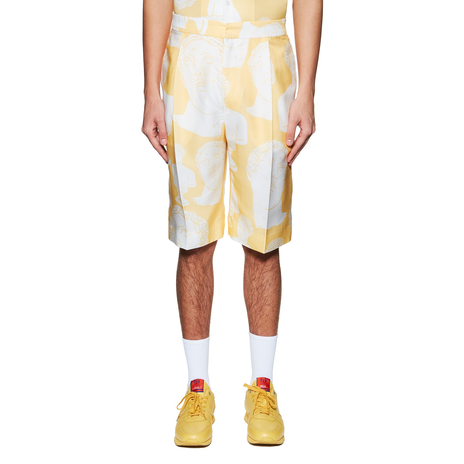 YELLOW HAWAIIAN MARBLES SHORTS