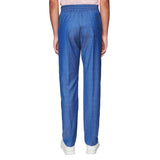 FORMAL DRAWSTRING TROUSERS BLUE