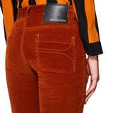 Cord Flare Trousers Spicy Orange