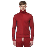 Burgundy Alpine Band Logo Tracksuit Top