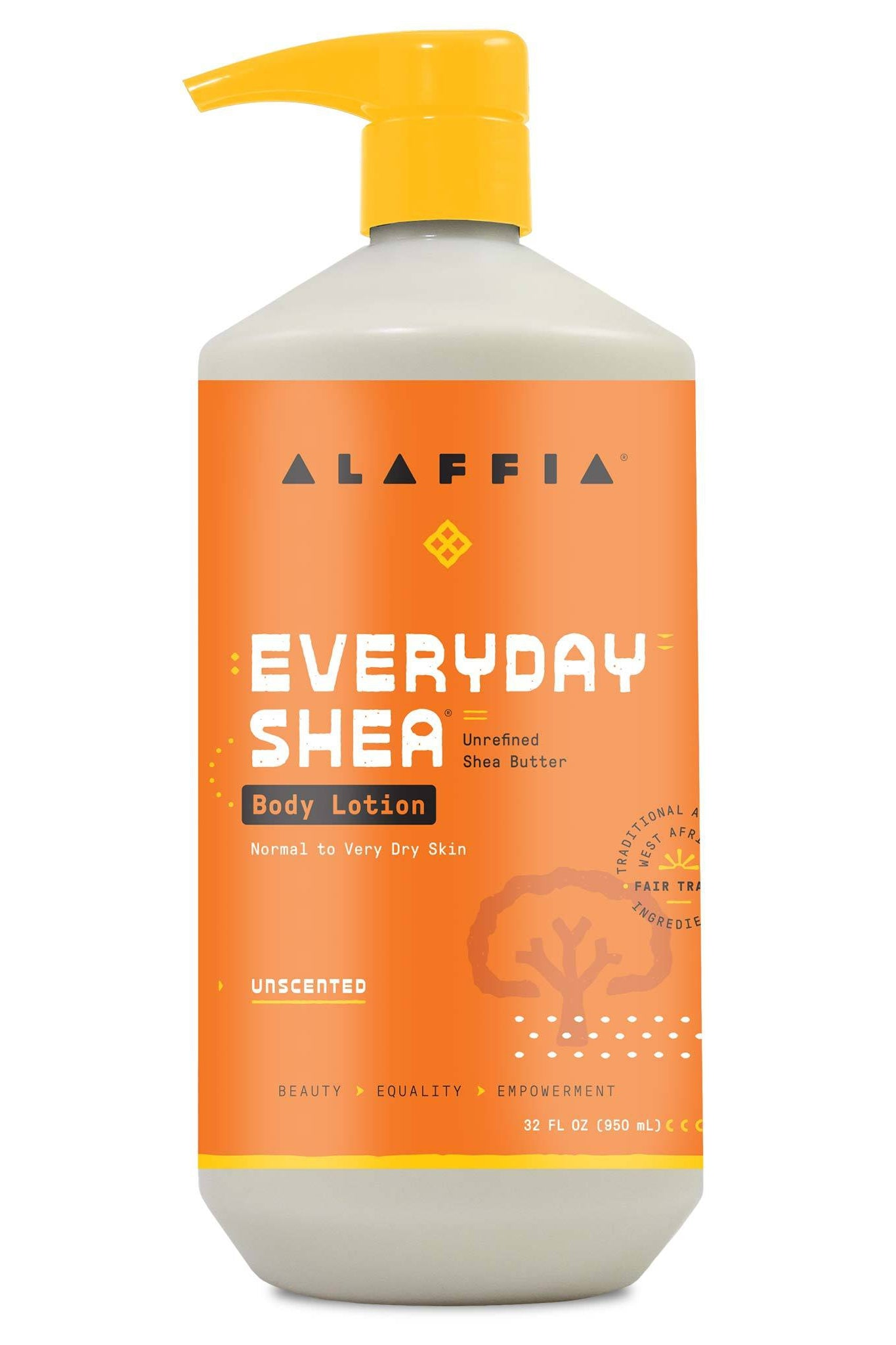 Alaffia Everyday Shea Body Lotion - Unscented 950 ml