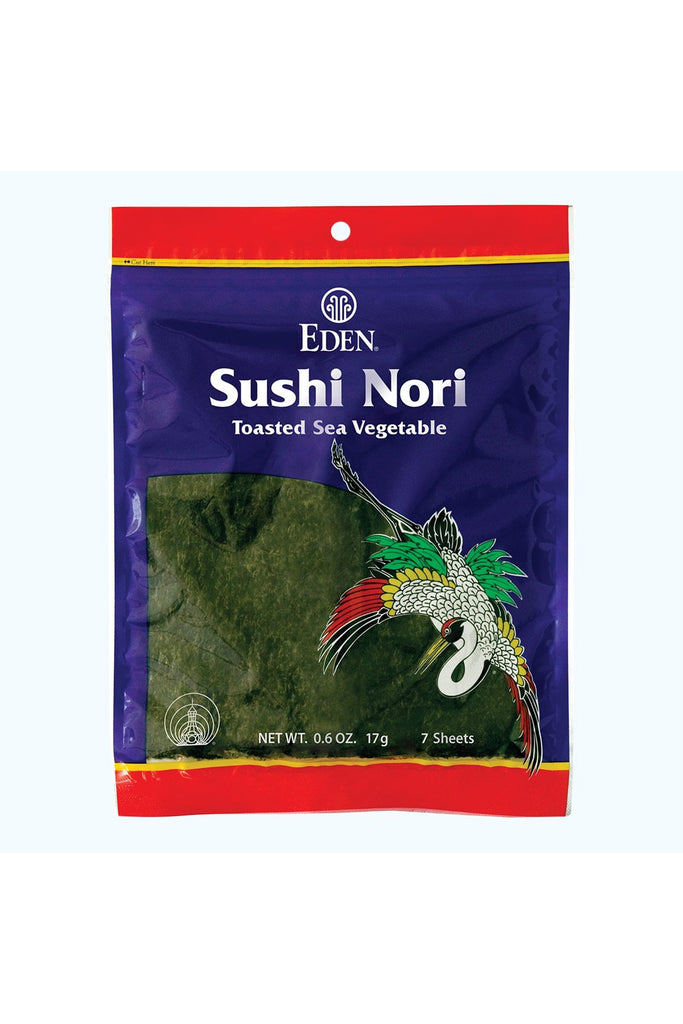 Eden Sushi Nori, Sea Vegetable, 7 Toasted Sheets 17g