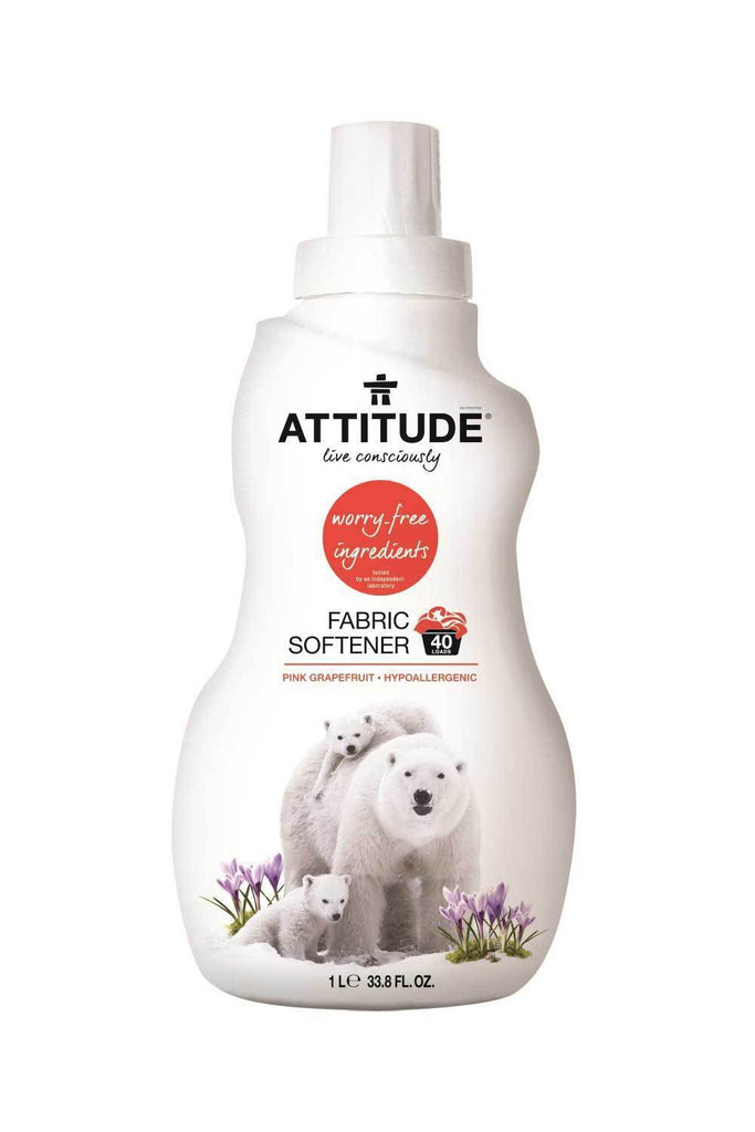 Attitude Nature+ Natural Fabric Softener - Pink Grapefruit 1L