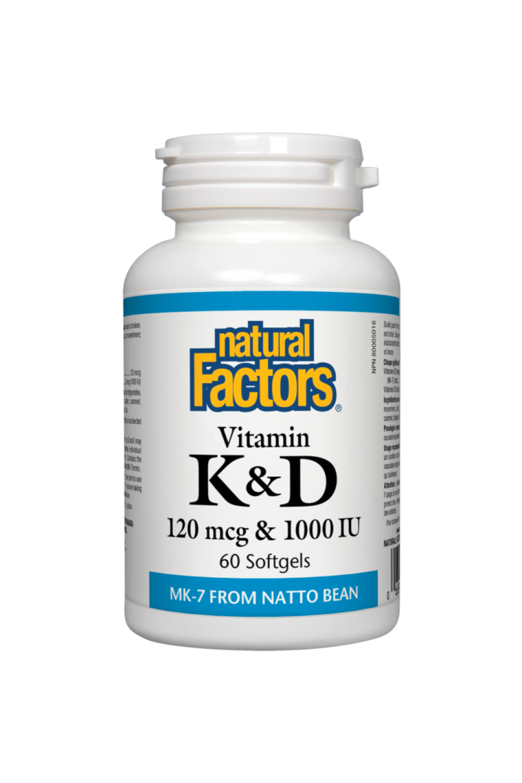 Natural Factors Vitamin K & D 60s