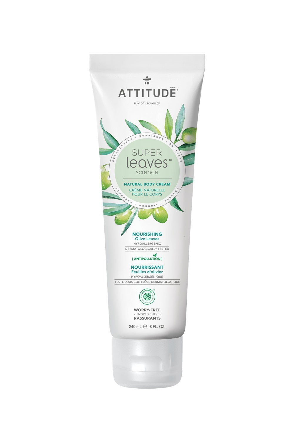 Attitude Super Leaves Nourishing Body Cream - Olive Leaves 240ml
