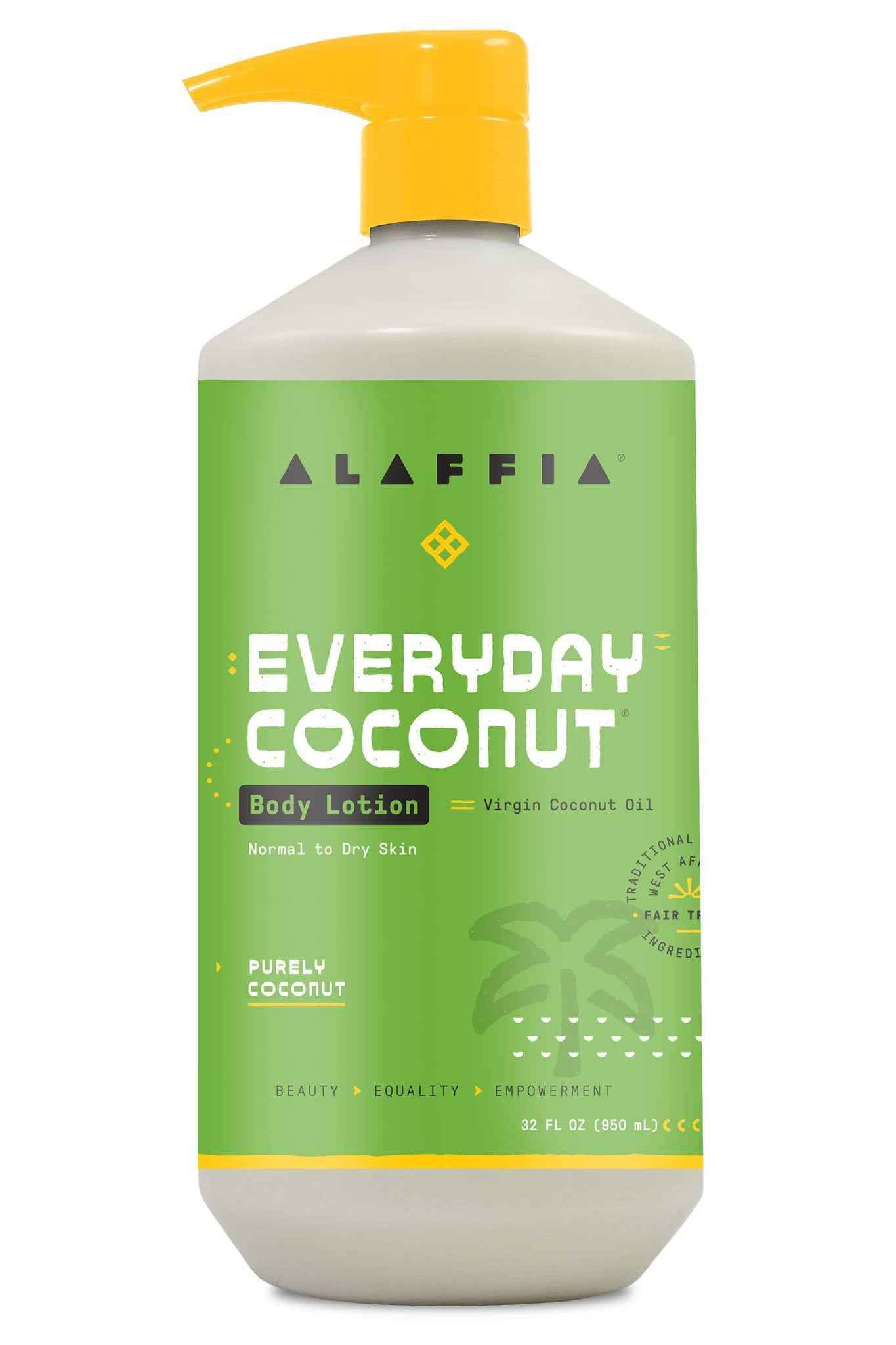 Alaffia Coconut Body Lotion - Purely Coconut 950ml