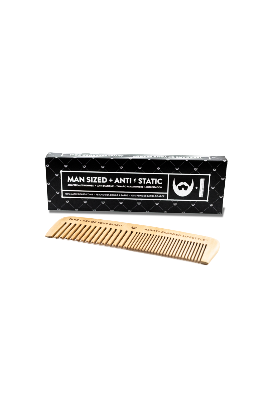 Always Bearded Lifestyle Anti-Static Beard Comb