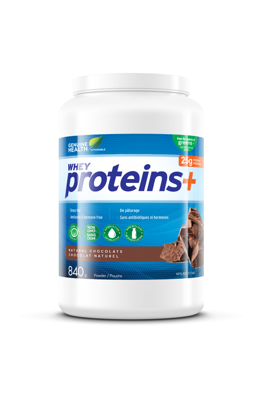 Genuine Health Proteins+ Chocolate 840g