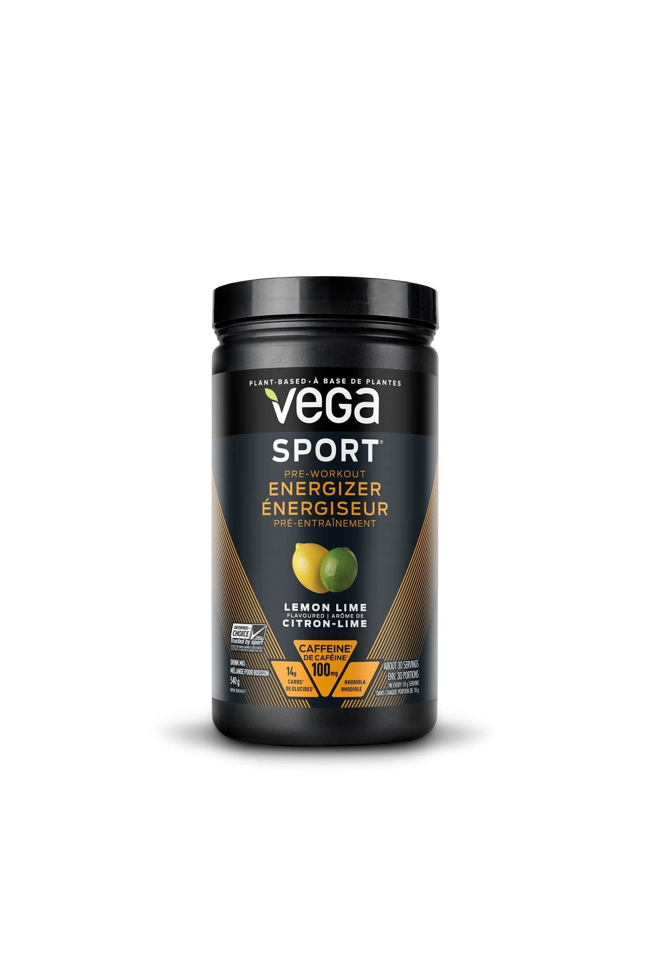 Vega Sport® Pre-Workout Energizer Lemon Lime 540g