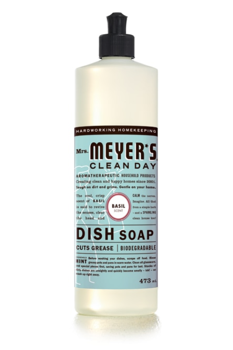 Mrs Meyer's Dish Soap Basil 473ml