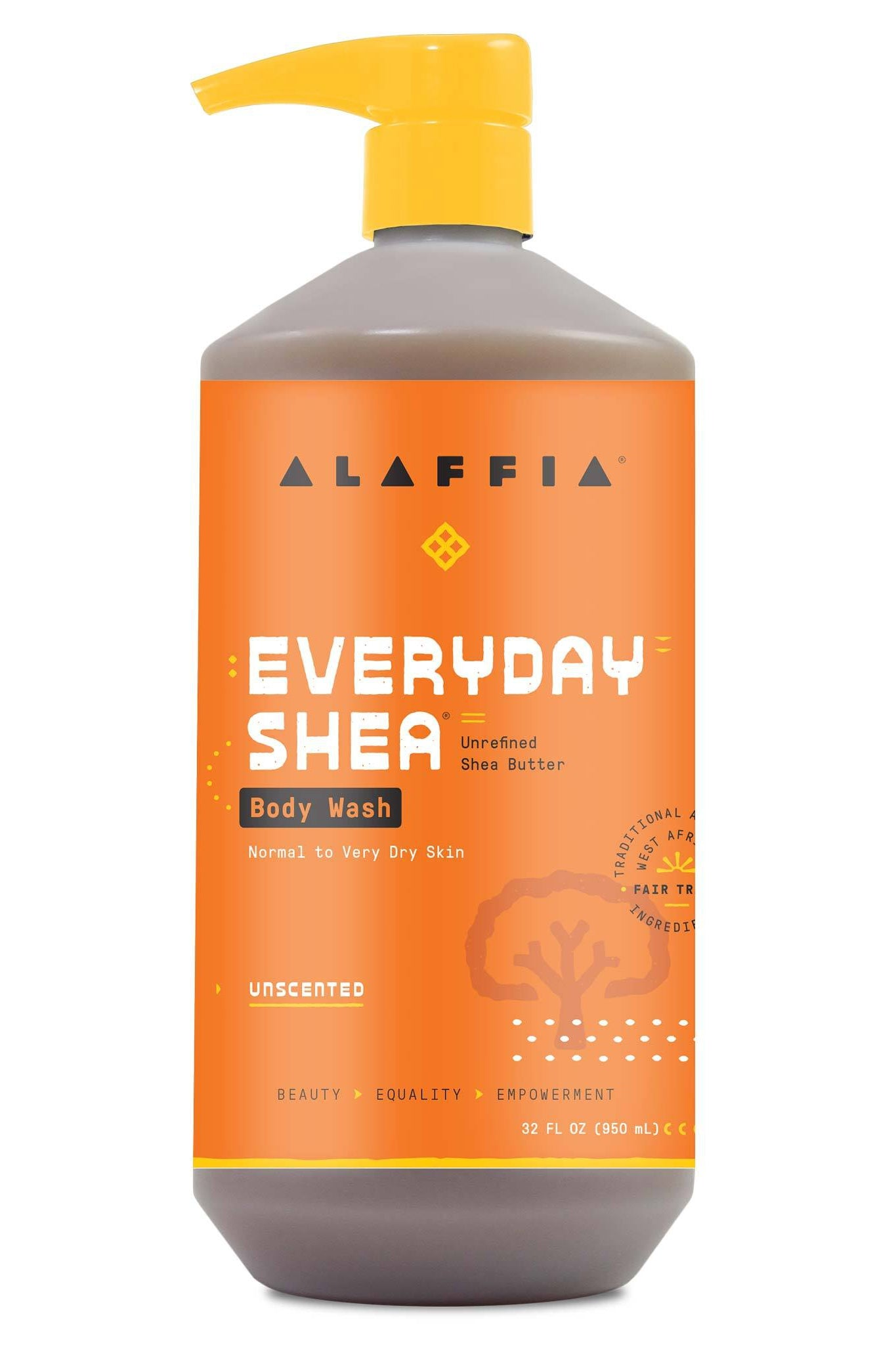 Alaffia Everyday Shea Body Wash - Unscented 950 ml