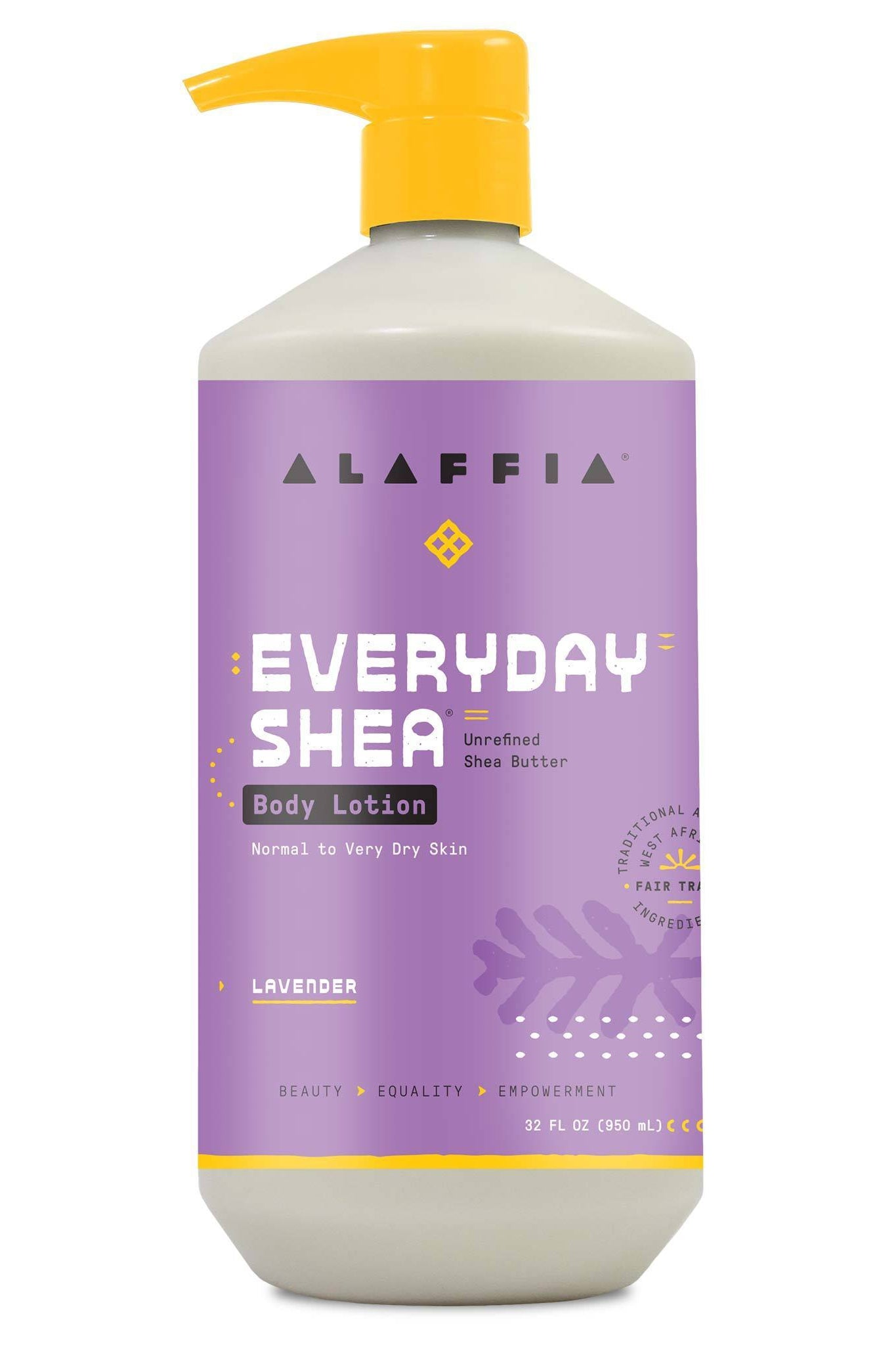 Alaffia Everyday Shea Body Lotion - Lavender 950 ml