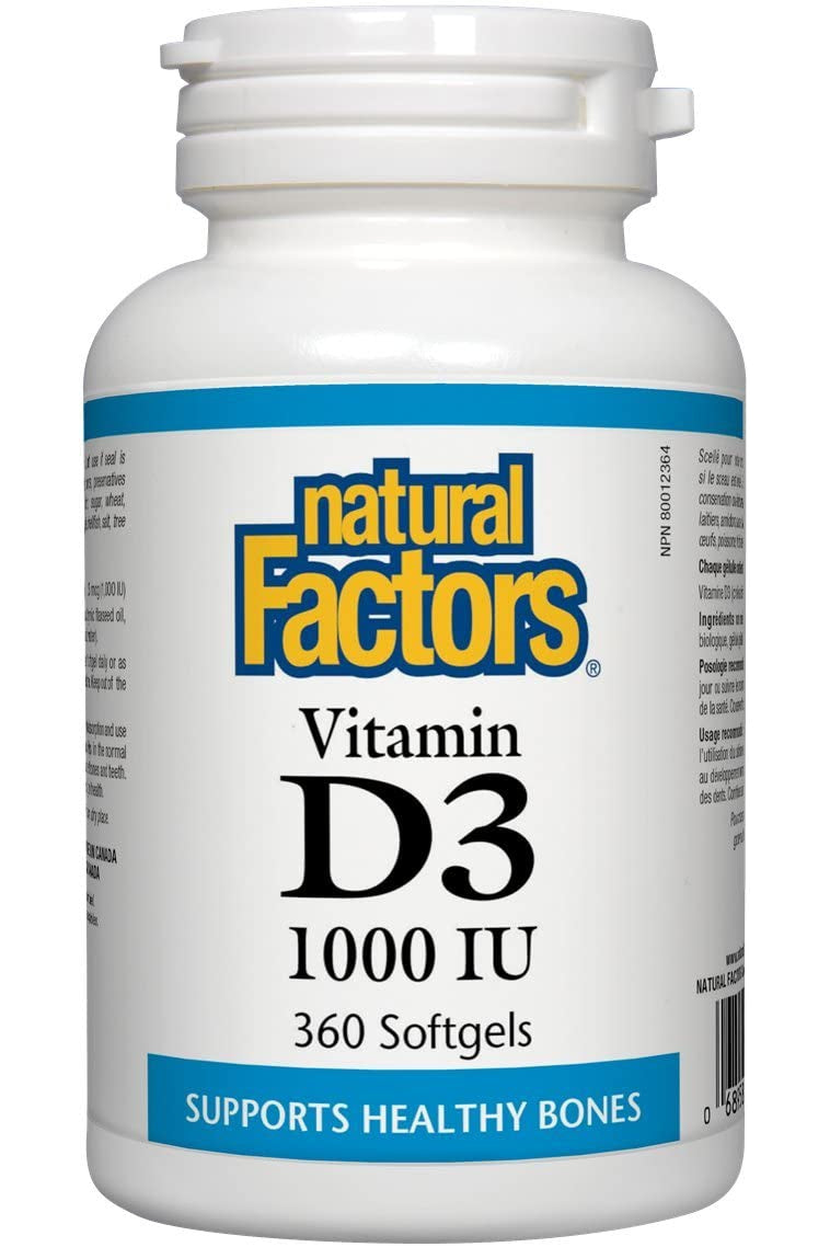 Natural Factors Vitamin D3 1000 IU 360s