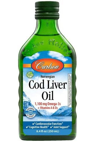Carlson Cod Liver Oil Natural 250ml