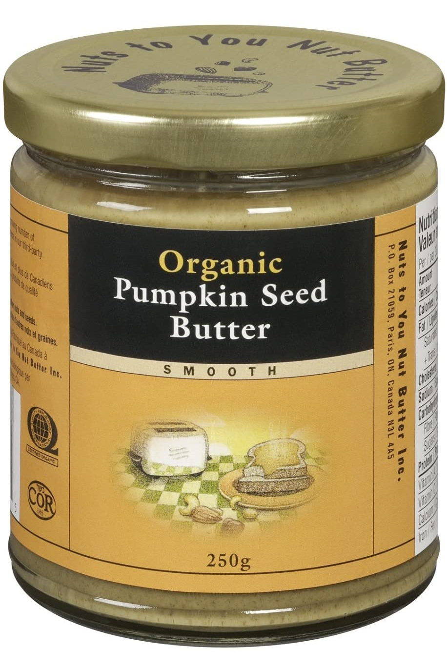 Nuts to You Organic Pumpkin Seed Butter - Smooth 250g