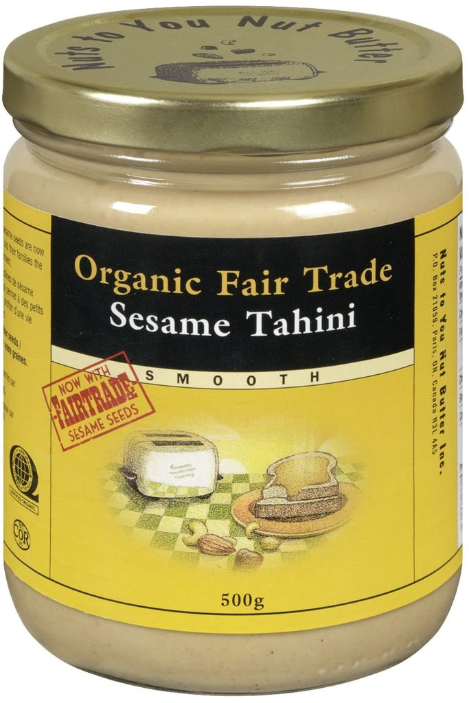 Nuts to You Nut Butter Organic Fair Trade Sesame Tahini - Smooth 500g