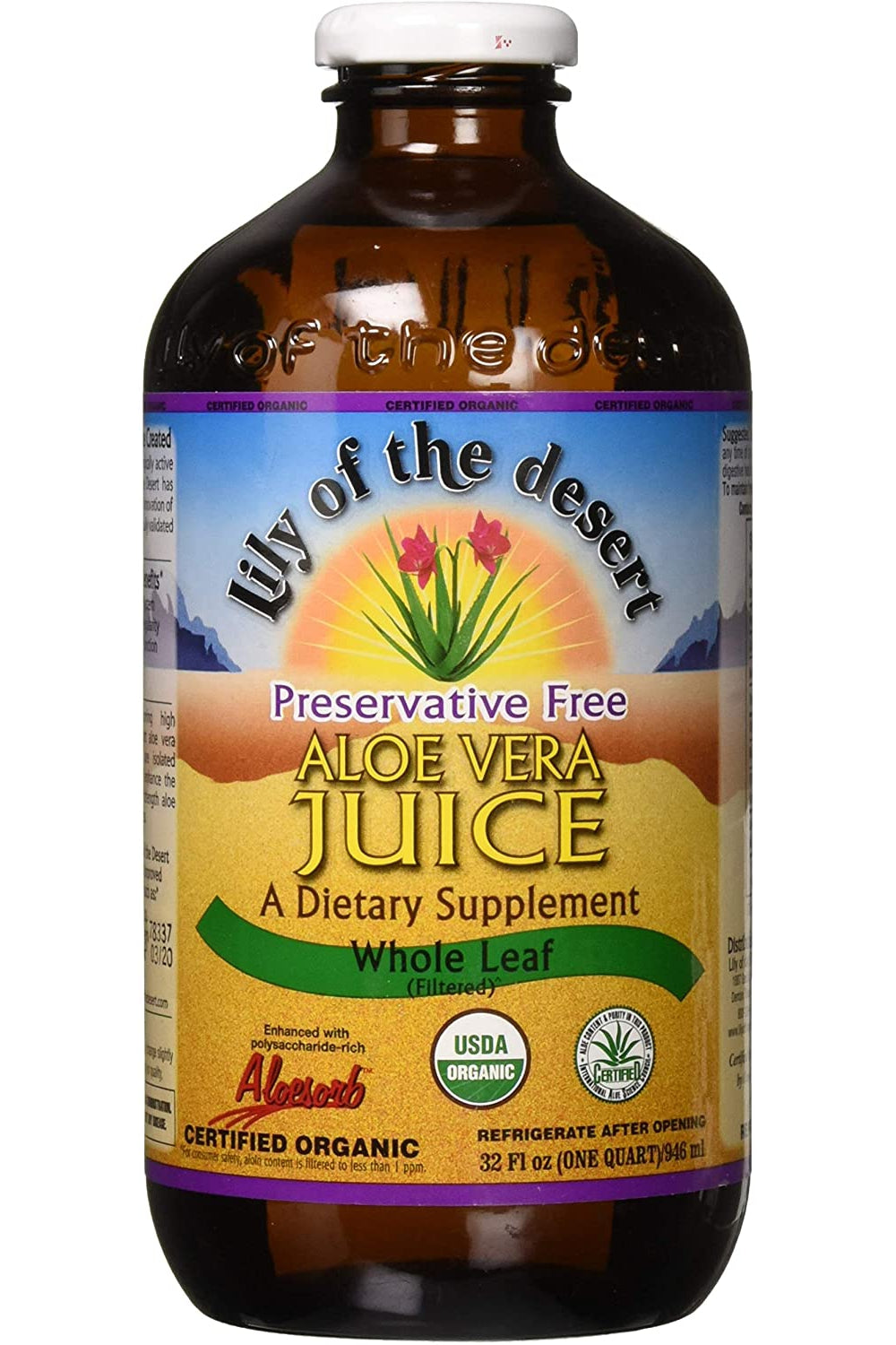 Lily of the Desert Aloe Vera Juice - Whole Leaf 946ml
