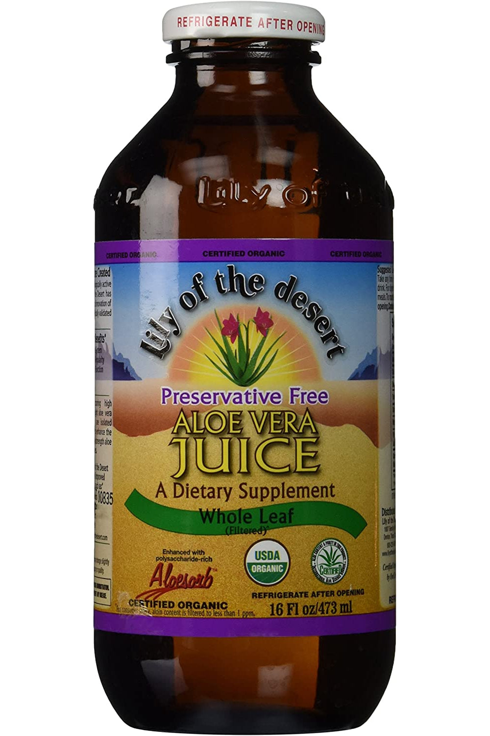 Lily of the Desert Aloe Vera Juice - Whole Leaf 473ml