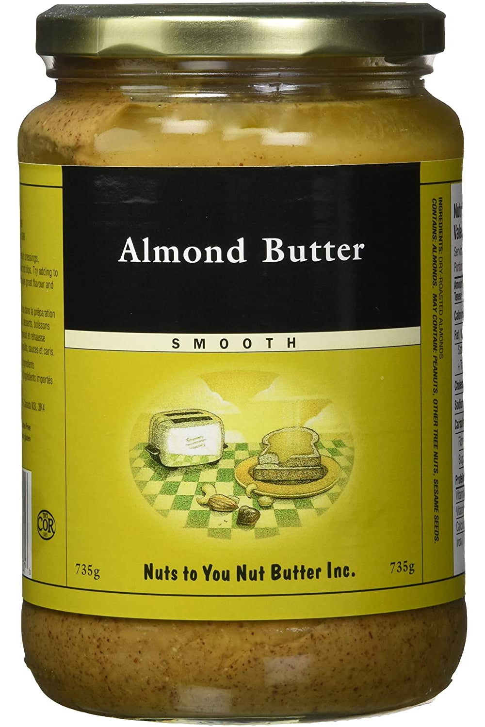 Nuts to You Almond Butter - Smooth 735g