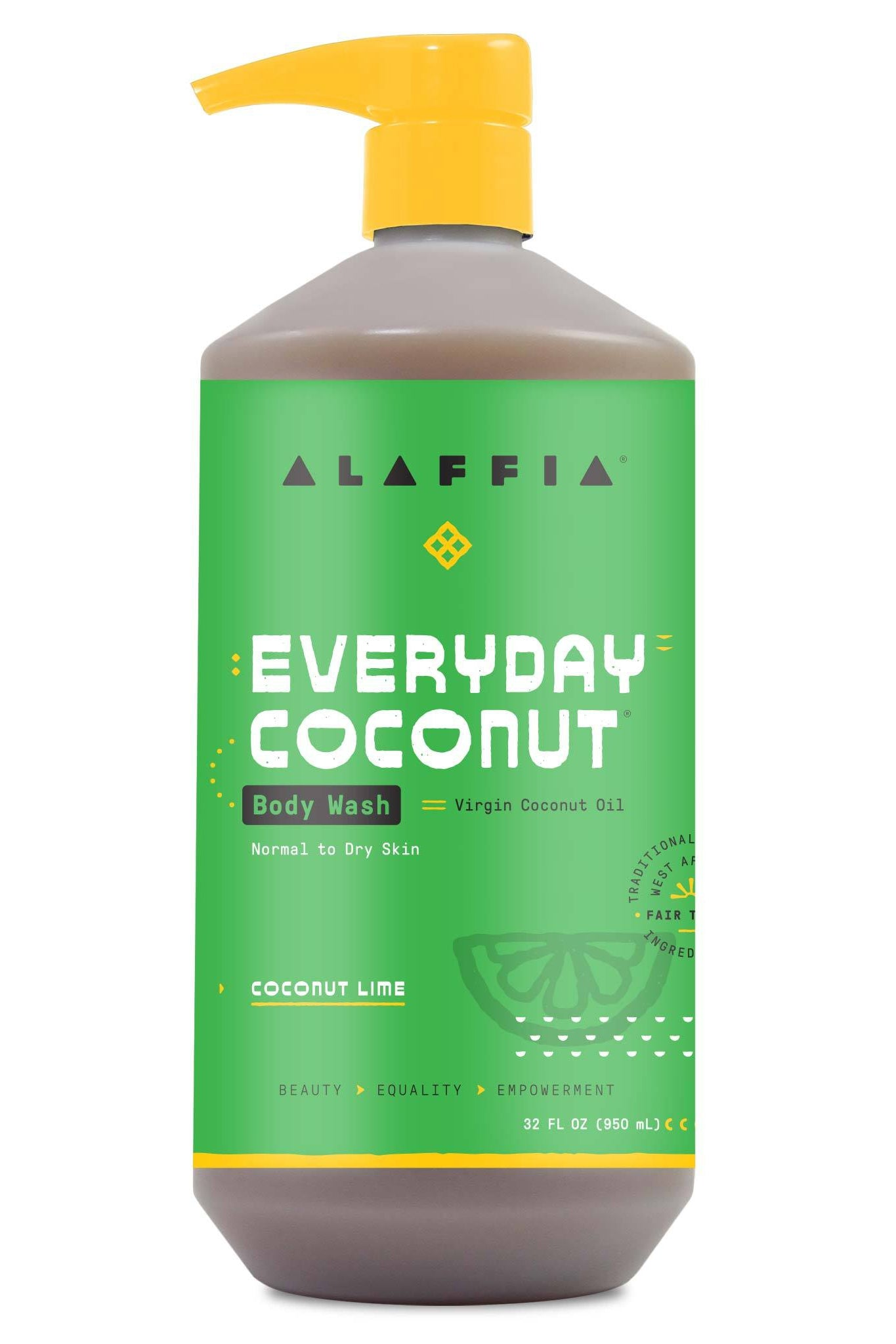 Alaffia Everyday Coconut Body Wash - Purely Coconut 950 ml