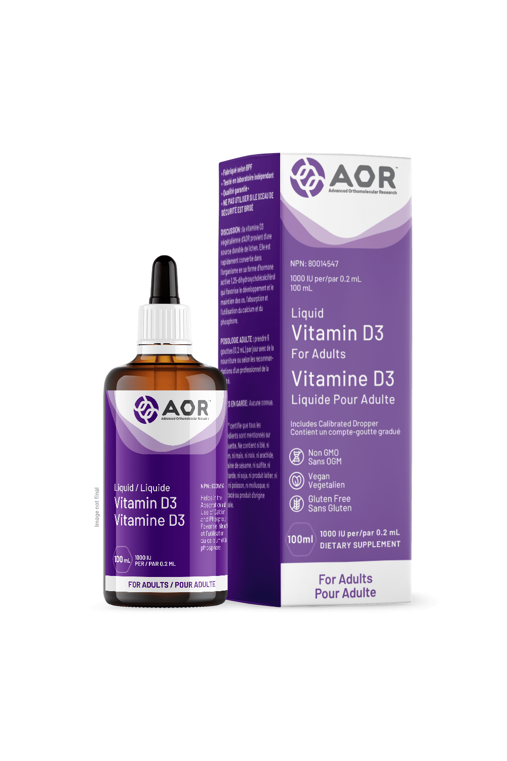 AOR Vitamin D3 Liquid (Adult) 100ml