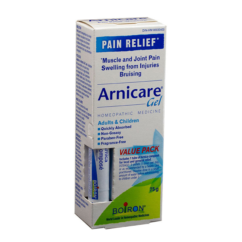 Boiron Arnicare Gel 75g Value Pack with Arnica Compose
