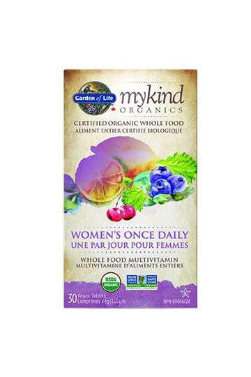 Garden of Life mykind Organics Women's Once Daily Multi 30s