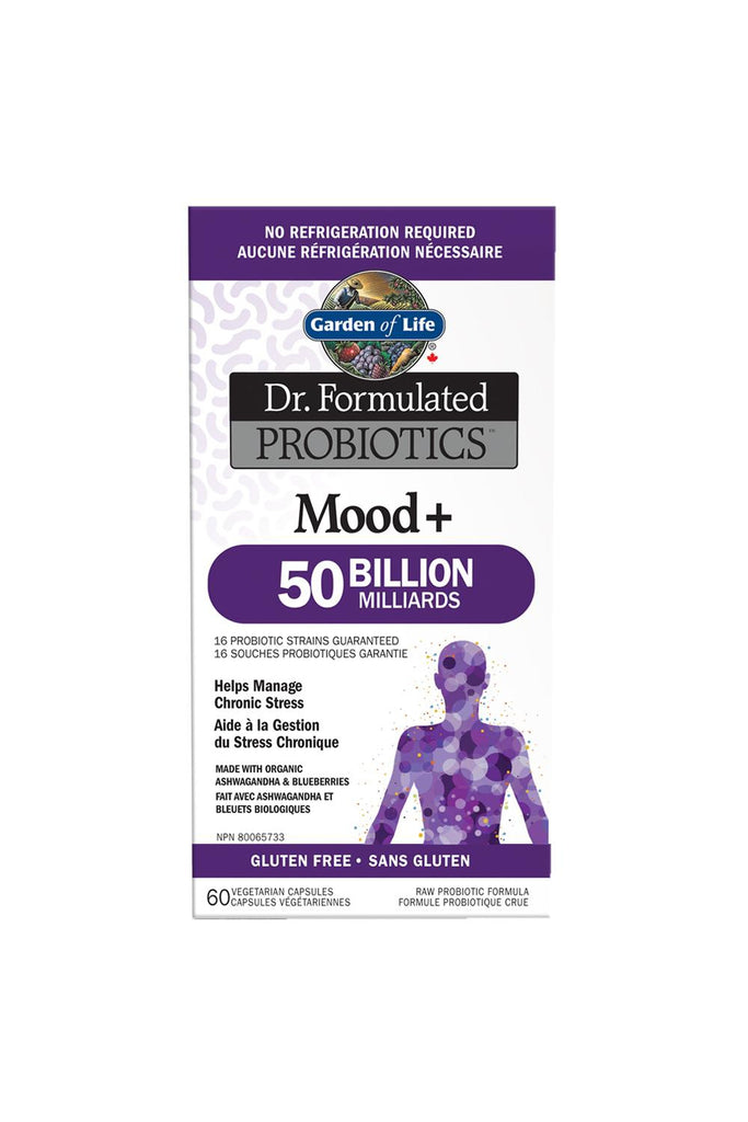 Garden of Life Dr. Formulated Probiotics Mood+ 50 Billion CFU Shelf-Stable 60s