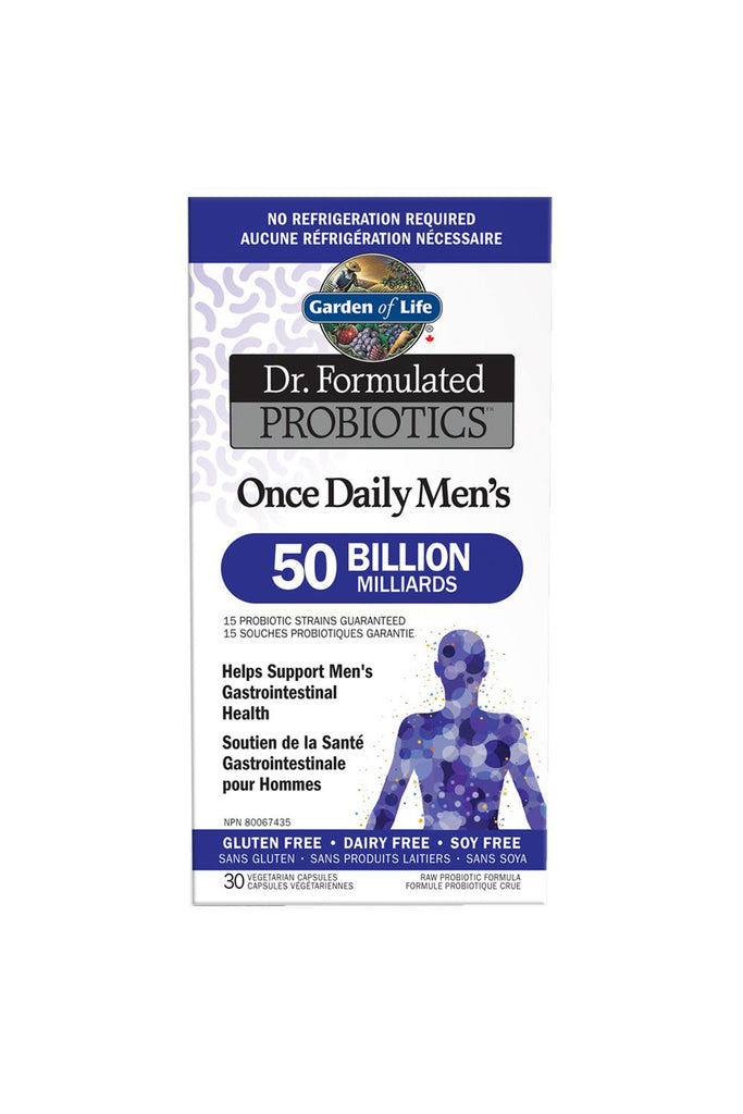 Garden of Life Dr. Formulated Probiotics Once Daily Men's Shelf-Stable 50 Billion 30s