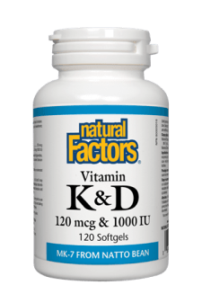 Natural Factors Vitamin K & D 120s