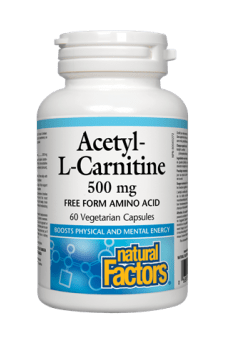 Natural Factors Acetyl-L-Carnitine 500 mg 60s