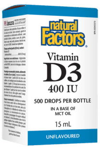 Natural Factors Vitamin D Drop 400 IU 15 ml