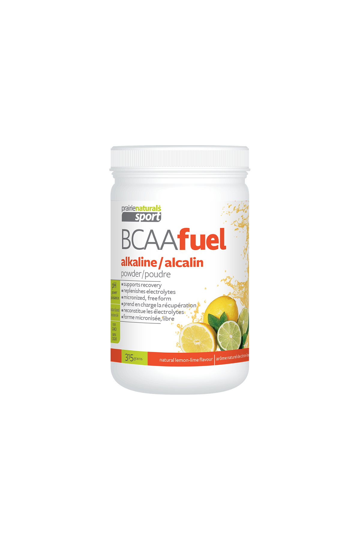 BCAA Fuel pH Balanced - Natural Lemon Lime Flavour 315g