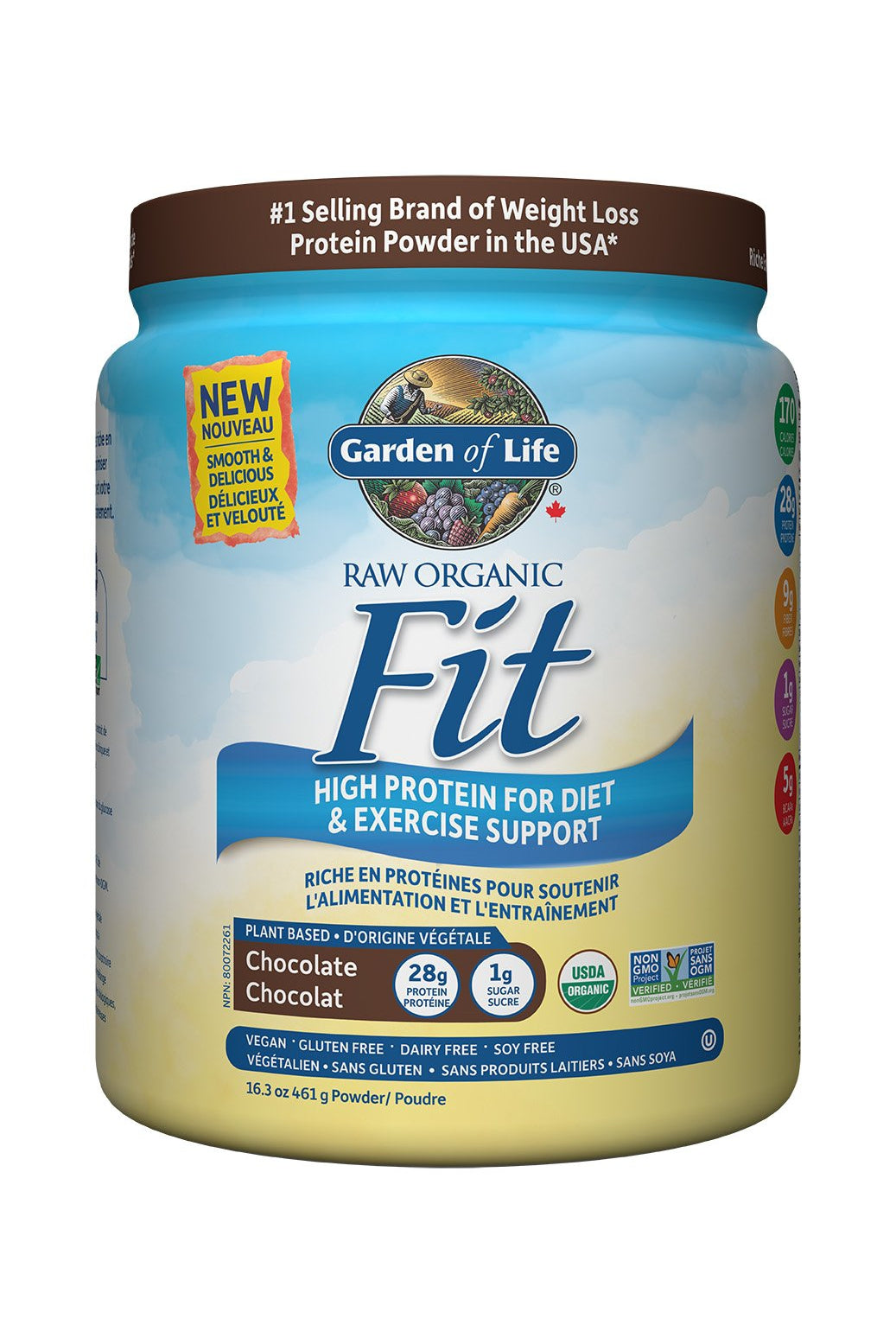 Garden of Life Raw Organic Fit Protein Powder - Chocolate 457g