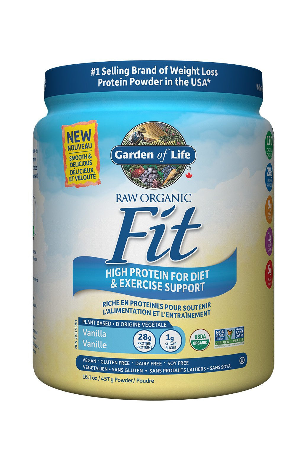 Garden of Life Raw Organic Fit Protein Powder - Vanilla 457g