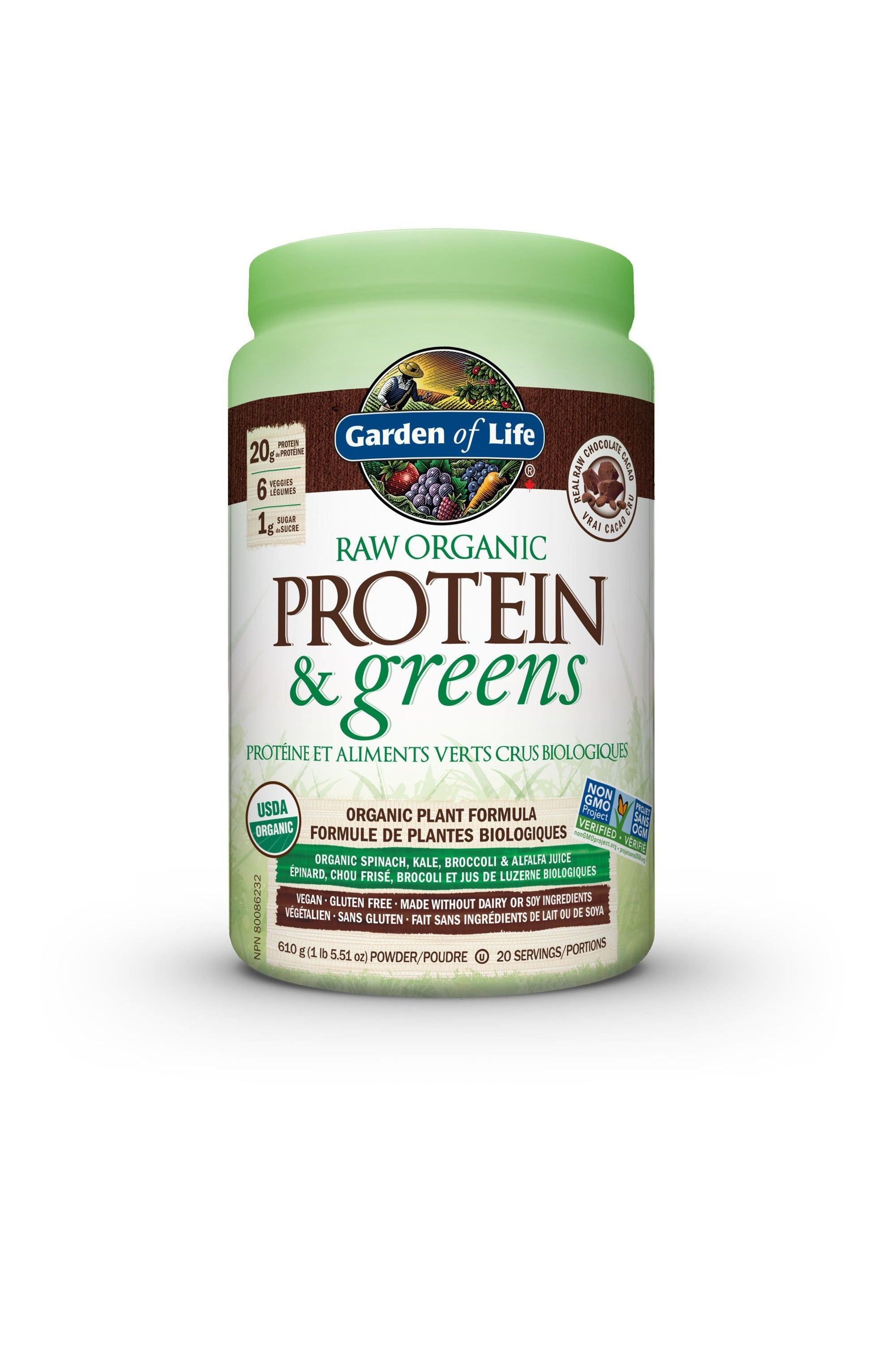 Garden of Life Raw Protein & Greens - Chocolate 550g
