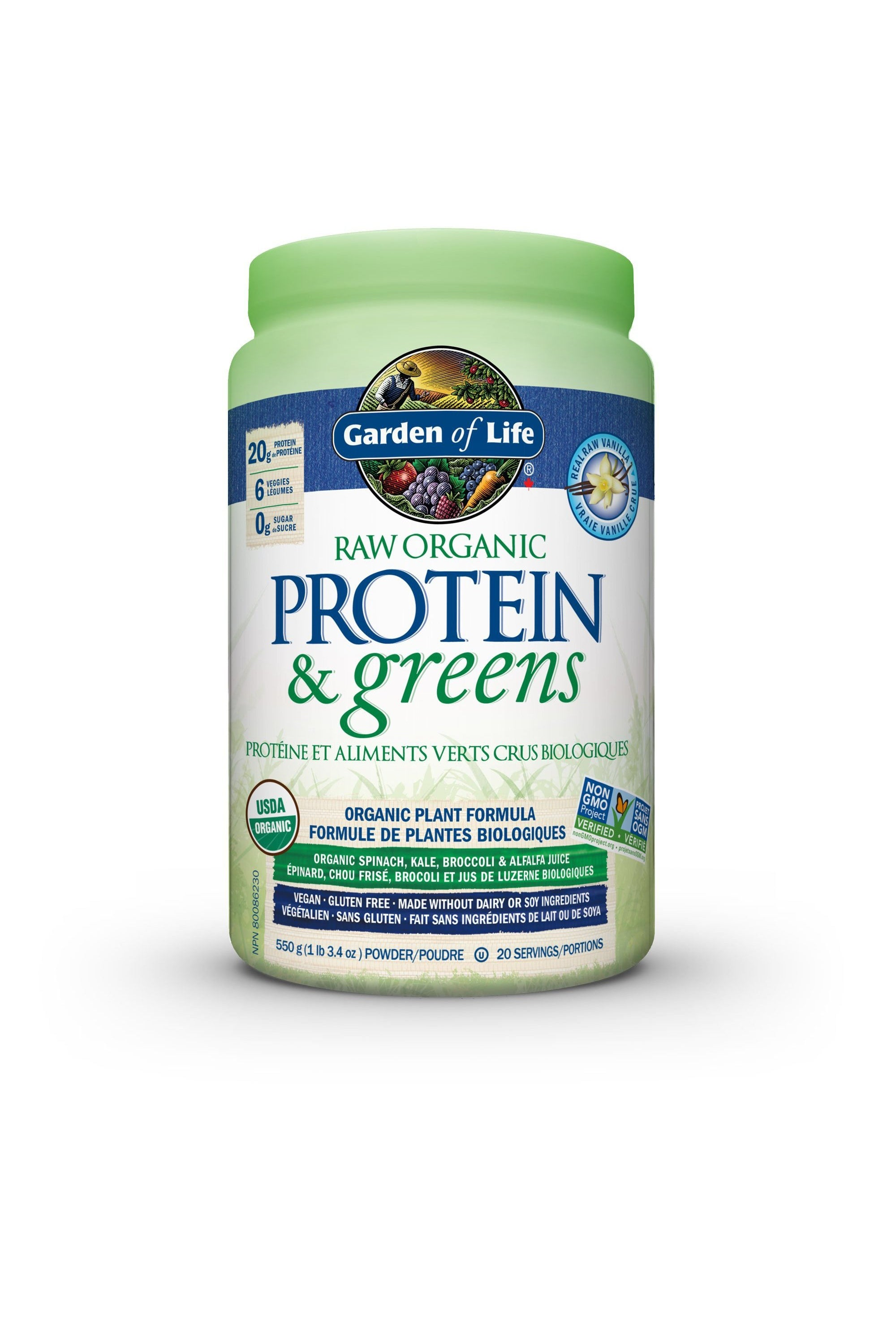 Garden of Life Raw Protein & Greens - Vanilla 548g