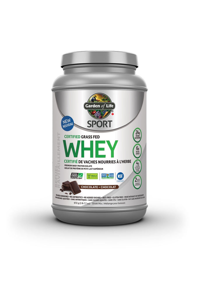 Garden of Life Sport Certified Grass Fed Whey - Chocolate 672g
