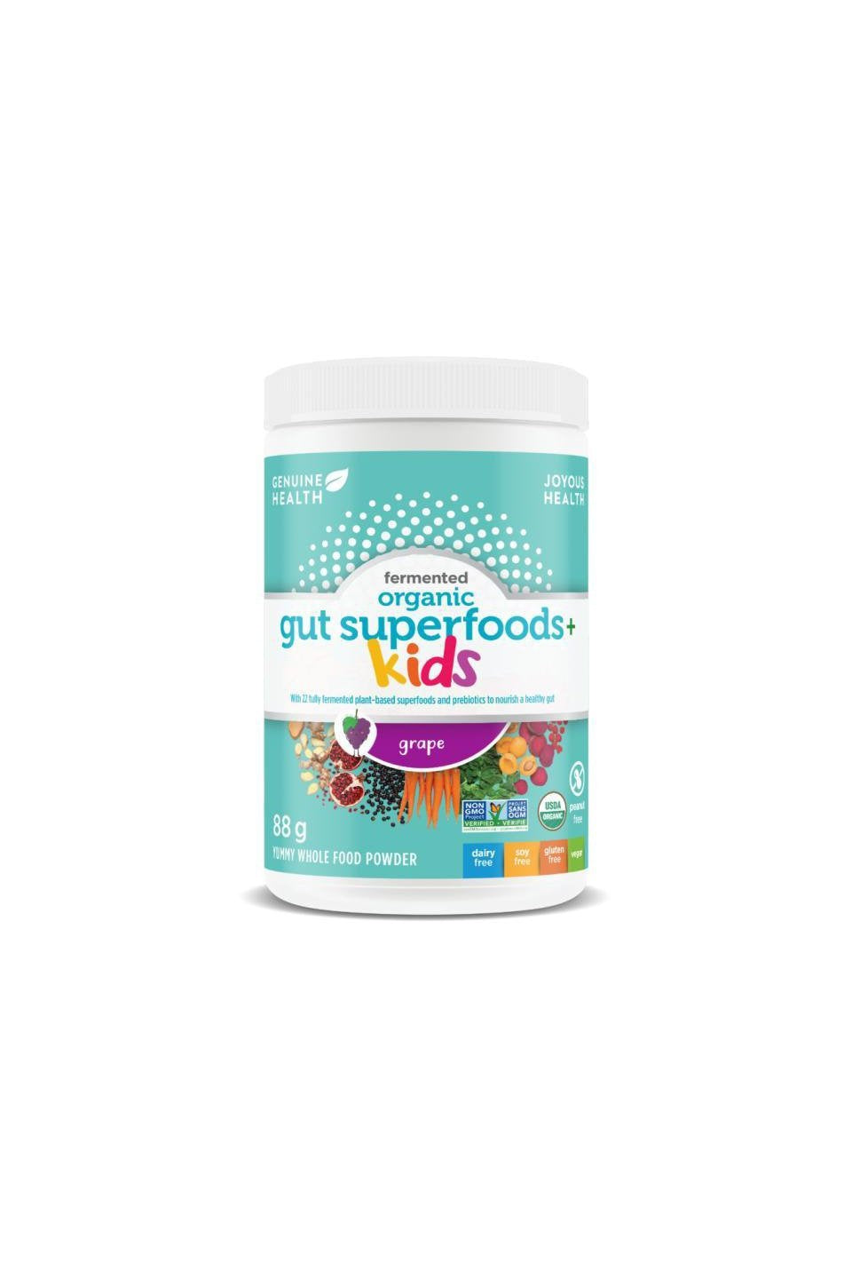 Genuine Health Fermented Organic Gut Superfoods+ Kids - Grape Flavour 88g